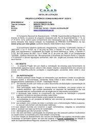 EDITAL DE LICITAÇÃO PREGÃO ELETRÔNICO CONAB SUREG ...