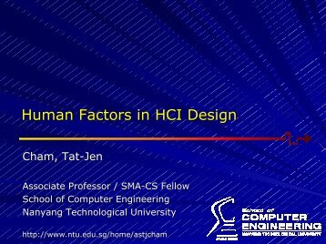 Human Factors in HCI Design