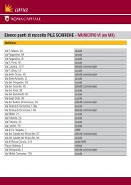 Elenco punti di raccolta PILE SCARICHE - MUNICIPIO VI (ex ... - Ama