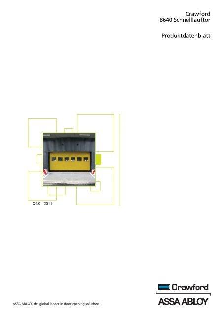 Crawford 8640 Schnelllauftor Produktdatenblatt - Crawford hafa GmbH
