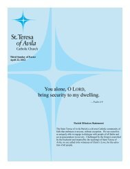 April 28 - St. Teresa of Avila Catholic Parish