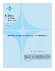 May 26 - St. Teresa of Avila Catholic Parish
