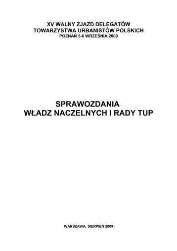 załącznik nr 1 - Towarzystwo Urbanistów Polskich