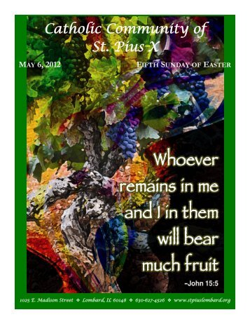 Deadline: Monday May 21, 2012 - St. Pius X Parish