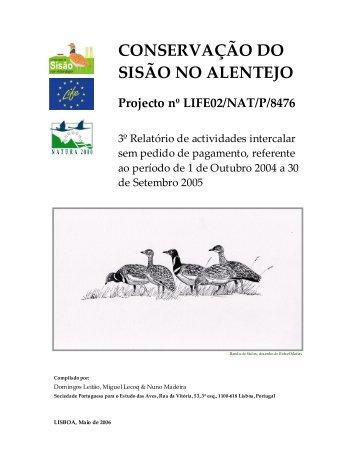 3º Relatório Técnico Intercalar - LIFE Sisão - spea.pt