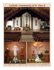 June 21-July 4, 2012 - St. Pius X Parish