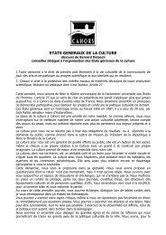 ETATS GENERAUX DE LA CULTURE - Cahors