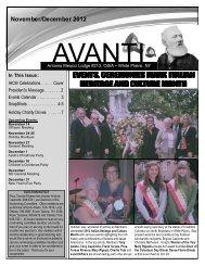 November/December 2012 - Antonio Meucci Lodge Home