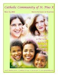 may 13, 2012 sixth sunday of easter - St. Pius X Parish
