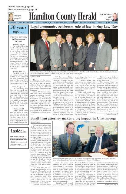 Hch June 17 2011 Legal Chattanooga Bar Association