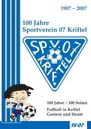 100 Jahre Sportverein 07 Kriftel - SV 07 Kriftel e.V.