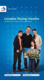 Complete Moving Checklist - Atlas Van Lines