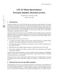 ATLAS Muon Spectrometer: Precision chamber electrical services
