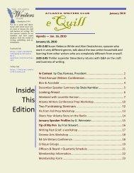 Inside This Edition - The Atlanta Writers Club