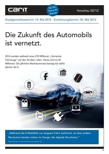 Die Zukunft des Automobils ist vernetzt. - carIT - Vernetztes Auto ...