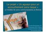 Le projet Â« Un aguayo pour un accouchement sans risque