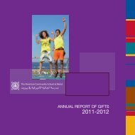 annual report of gifts - The American Community School at Beirut