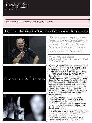 Alexandre Del Perugia - Ecole du jeu