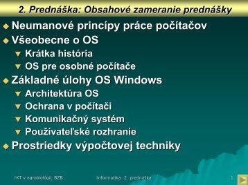 Základné úlohy systému Windows