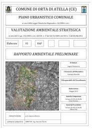 rapporto ambientale preliminare - Comune di Orta di Atella