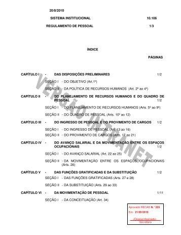 Regulamento de Pessoal - 10.106 (.pdf) - Conab