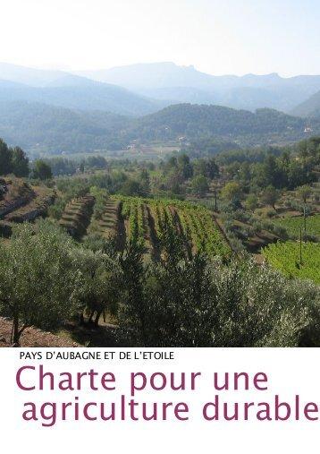 Charte pour une agriculture durable (2011) - Site officiel de la ville d ...