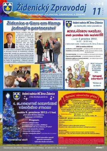 Listopad 2012 - Městská část Brno - Židenice