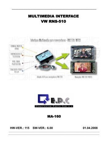 MA160 - Manual de interface multimedia RNS510.pdf - epc.net.pl