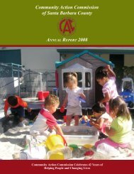 Community Action Commission of Santa Barbara County ANNUAL ...
