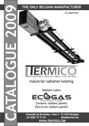 General catalogue of radiant heating products - Termico