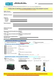 (Formulaire Demande renseignements pour ... - Hydra CARENE