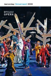 Jaarverslag /Annual report 2008 - De Nederlandse Opera