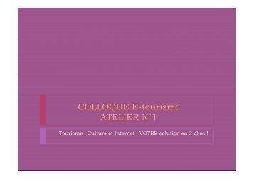 Téléchargez le document de l'atelier 1 - Tourisme en Meuse