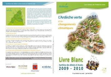 L'Ardèche verte et les changements climatiques - Syndicat Mixte ...