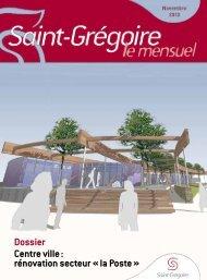Saint-Grégoire, le Mensuel Novembre 2012