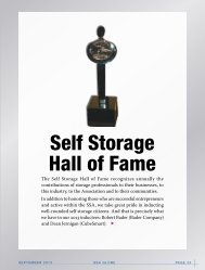 Self Storage Hall of Fame - Self Storage Association Globe