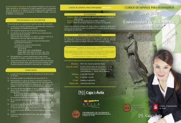 Universidad de Salamanca Universidad de Salamanca