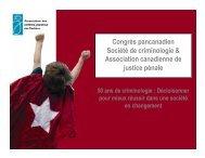 Atelier 20 - Diane Maisonneuve - Société de Criminologie du Québec