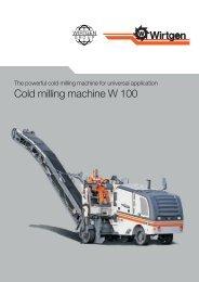 Cold milling machine W 100 - Attrans Commercials Ltd.