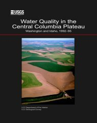 Water Quality in the Central Columbia Plateau - USGS
