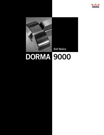 Exit Device DORMA 9000 - Access Hardware Supply