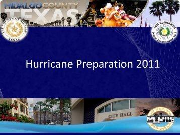 Hurricane Preparation 2011 - City of Weslaco