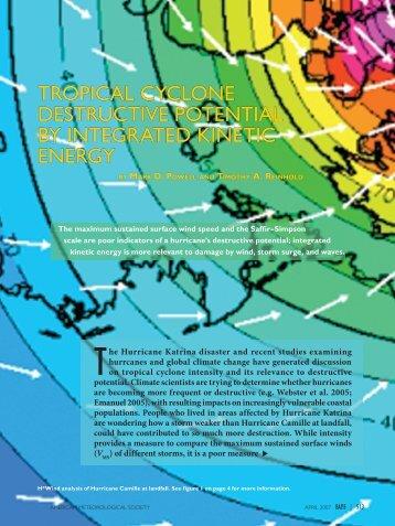 The Hurricane Katrina disaster and recent studies examining