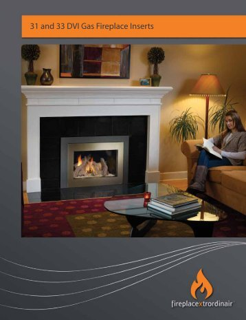 31 and 33 DVI Gas Fireplace Inserts - Fireplace Xtrordinair