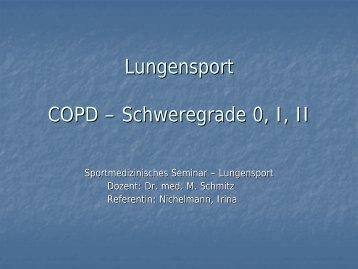 Lungensport COPD - Sportmedizin, Prävention und Rehabilitation