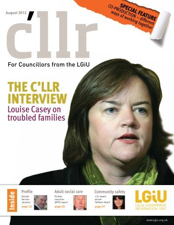 Download C'llr – August 2012 - LGiU