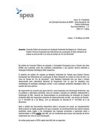 Estudo para Análise Técnica Comparada das Alternativas ... - spea.pt