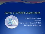 Status of XMASS experiment
