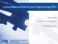 Computational science & engineering support - National Grid Service