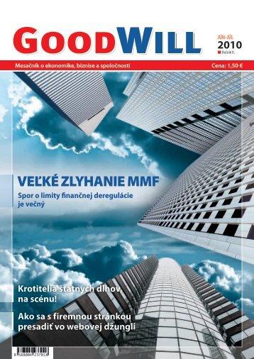 VEĽKÉ ZLYHANIE MMF - GoodWill - Eu.sk